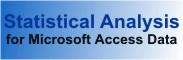 Perform statistical analysis on Microsoft Access data