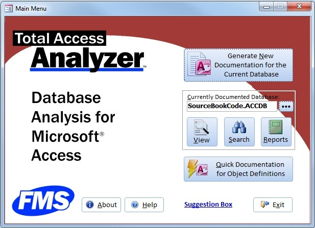 Microsoft Access Database Documentation and Analysis Wizard