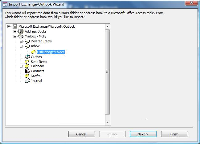 Using Microsoft Access with Exchange/Outlook to Manage Email