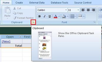 Error Pasting Data from Microsoft Excel 2007 to Microsoft Access