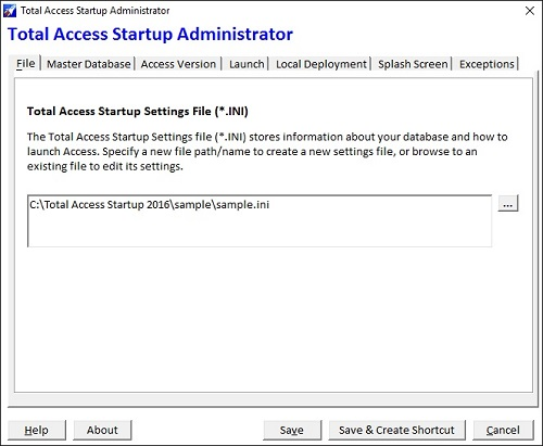 Total Access Startup Administrator Wizard