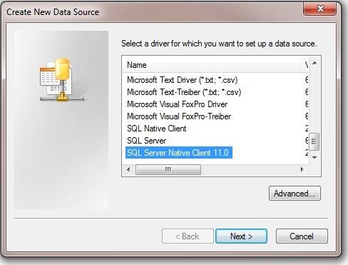 Sql server native client 11 0 driver download