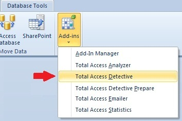 Microsoft Access Add-in for Difference Detector