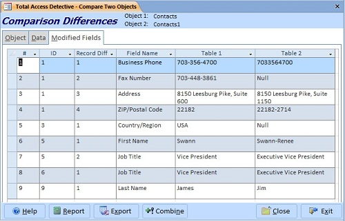 table-data-comparison-results-fields_500 Tab Order In Access Form on where is objuect, controls buttons, database table, control forms, form several, run query, where is object,