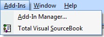 VBA/VB6 IDE Add-Ins Menu to Launch Total Visual SourceBook
