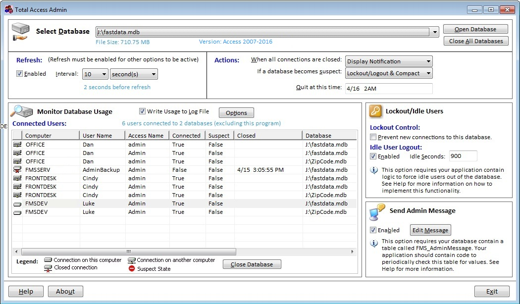 Monitor Microsoft Access Databases With Total Access Admin