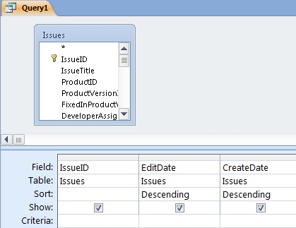microsoft access query criteria date format