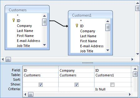 Microsoft Access Not-In Query SQL Tip: Finding Records in One ...