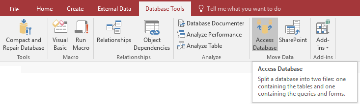 Microsoft Access Split Database Architecture to Support Multiuser