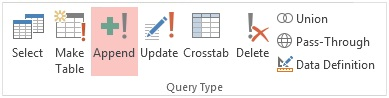 append query in sql server