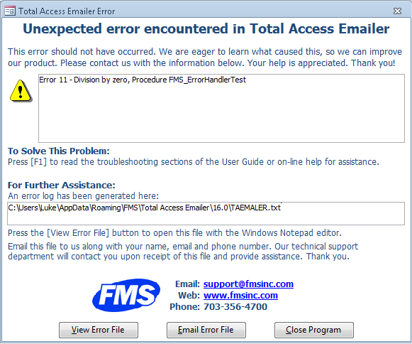 Microsoft Access Email and Total Access Emailer Frequently