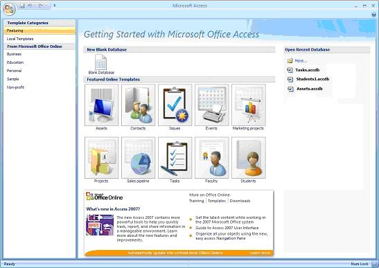 Discover the power of microsoft access template databases for Ms access 2007 templates