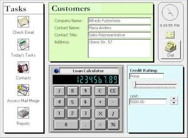 Microsoft Access ActiveX Controls on a Form
