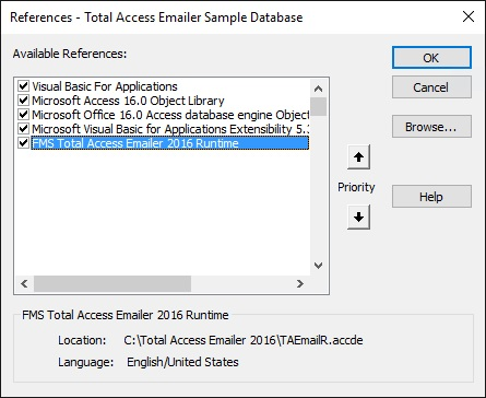 Distributing Microsoft Access Applications based on Total Access Emailer