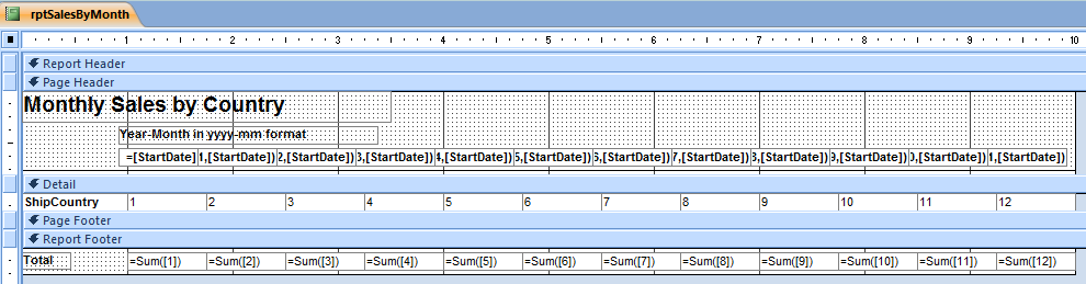 Creating Microsoft Access Monthly Summary Crosstab Query
