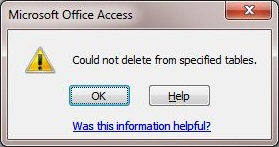 how to delete a relation in ms access