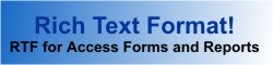 Rich text format memo fields for Microsoft Access forms and reports with Total Access Memo