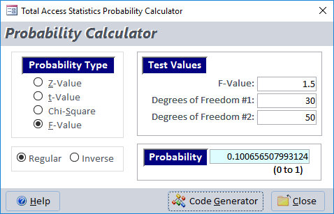 Microsoft Access Statistical Functions using VBA in Total Access