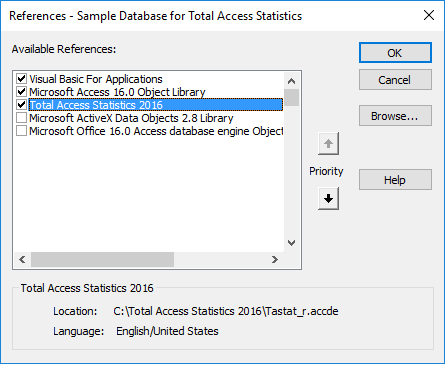 Microsoft Access Statistical Functions using VBA in Total