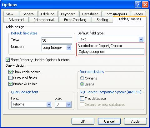 Microsoft Access Tip: Avoid Unnecessary or Duplicate Indexes
