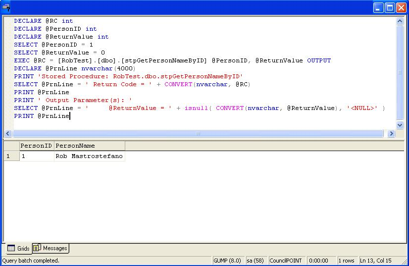 Sql Tip Interface For Executing Stored Procedures In Sql