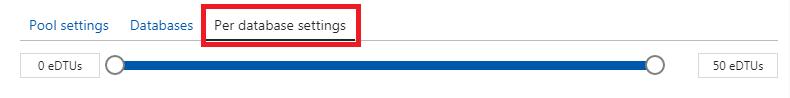 Set Database DTU Limits
