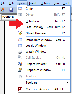 Shortcut Keys for Debugging in VBA, Microsoft Access, and