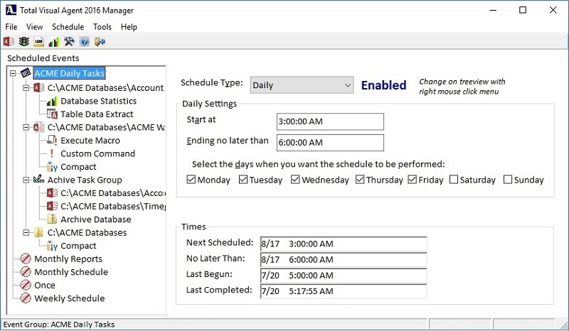Microsoft Access Scheduler to Compact and Repair Databases