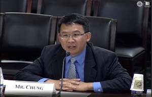 Luke Chung makes his opening statement and responds to questions